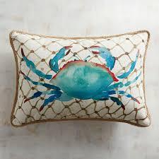 Peacock Pillow Pier One by Crab Printed Lumbar Pillow Home U0026 Garden Pinterest Pillows