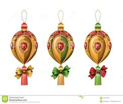 christmas ornaments clip art isolated on white background holiday