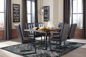 ashley furniture esmarina two tone dining table upholstered side