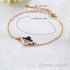 white gold leaf bracelet images 2018 four leaf clover bracelets white gold rose gold bracelet jpg