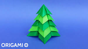 origami very easy christmas tree