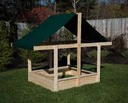 Sandboxes With Canopy And Cover by Cedar Sandbox With Sun Shade And Sand Cover