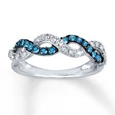 blue wedding rings has anyone added a mismatched band to their custom bridal sets