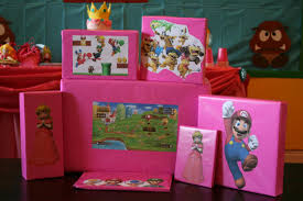 mario wrapping paper mario birthday party featuring princess chica and jo
