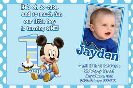 simple invitation card for 1st birthday boy 97 in invitation cards