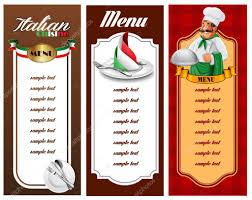 italian menu template u2014 stock vector mollicart 88395574