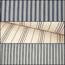 Blue And White Striped Upholstery Fabric Extra Wide Upholstery Curtain Ticking Blue Black Chalk White