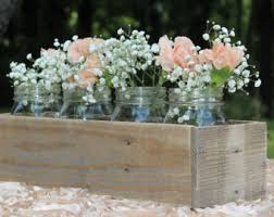 wood box centerpiece etsy