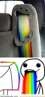 Puking Rainbow Meme - 14 best puke rainbows images on pinterest rainbow rainbows and