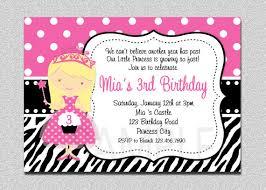 items similar to princess birthday invitation princess zebra