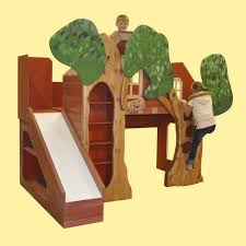 bunk bed playhouse with slide home beds decoration