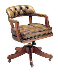 swivel captains chair court swivel traditional leather chesterfield office chair cushi