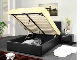 osaka lift up storage bed leather textile twin by sunset leggett