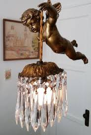 Vintage French Chandeliers Vintage French Chandelier Fixture Sconces Angel Cherub Antique