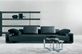 living room luxury leather living room couches in black color
