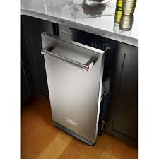 ktts505ess kitchenaid 1 4 cu ft built in trash compactor