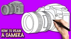 how to draw a camera easy step by step drawing lessons for kids