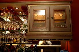 Lighted Bar Cabinet The Wizard Of Wood Custom Cabinets And Moldings Summit New Jersey