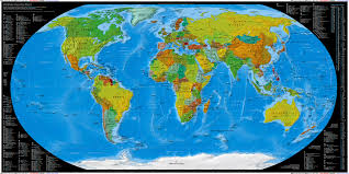 World Map Image by Visibone Country Chart