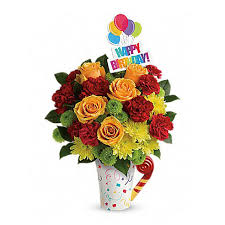 birthday boquet n festive birthday bouquet at send flowers