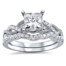 white gold wedding ring sets bridal sets wedding ring sets for less overstock