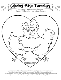 chicken looking for food color page clip art library