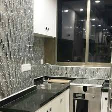 Metal Kitchen Backsplash Ideas Glass And Metal Tile Backsplash Ideas Bathroom Stainless Steel