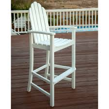 Walmart Plastic Outdoor Chairs Polywood U0026reg Adirondack Recycled Plastic Bar Height Chair