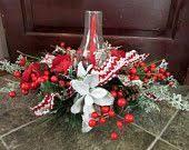 Christmas Hurricane Centerpiece - christmas hurricane centerpiece in birch bowl by county56designs