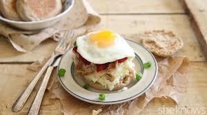 turkey mashed potato breakfast sandwiches for a