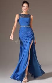 shop royal blue long bridesmaid dresses bateau royal blue long
