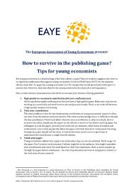 special writing paper michaela trippl michaela trippl twitter here are the publication tips for young economists that we gathered in a special session at this year s eea eeanews eeaesem17pic twitter com mpcjfbx7ck