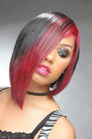 african american hairstyles color streaks 25 groovy black hair with red highlights pictures creativefan