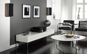 grey living room walls brown furniture round brown wooden coffee