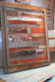 artwork with wood reclaimed barn wood easy to achieve with hourwall random