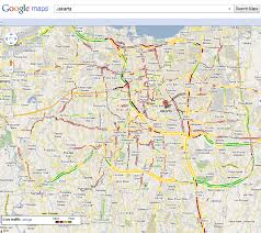 traffic map maps now provides traffic information in jakarta