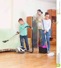 family doing house cleaning stock photo image 34915006