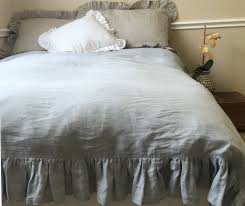 duck egg blue duvet cover with ruffles handcrafted by superior