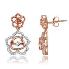 dangle diamond earrings heartbeat diamond dangle earrings disne0017