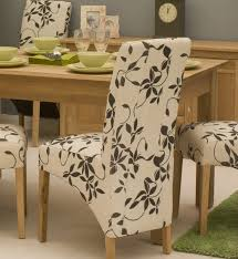 Fabric Chairs For Dining Room Dining Room Contemporary Dining Chairs In White Flowery Motif