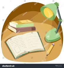 cartoon style reading corner book lamp stock vector 653545450