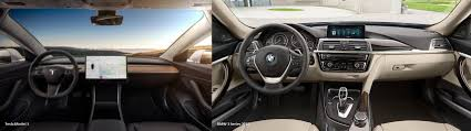 tesla model 3 tesla model 3 vs bmw 3 series interior comparison album on imgur
