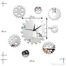 horloge murale engrenage vente en gros bricolage créatif décoratif canapé fond cloche
