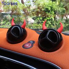 mini cooper horns stickers car styling auto accessories