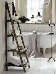 Bathroom Towel Rack Decorating Ideas Standing Wooden Ladder Shelf Bathroom Towel Rack Ideas For Shabby