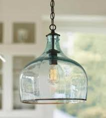 Colored Glass Pendant Lights Aqua Pendant Lamp Foter