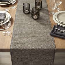 crate and barrel table runner handmade table runner is crafted of natural mendong straw dyed in