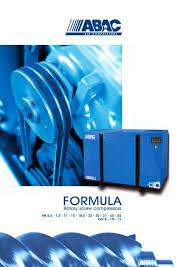 formula rotary compressors abac pdf catalogue
