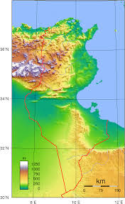 tunisia physical map www mappi net maps of countries tunisia