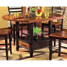 Drop Leaf Bistro Table Abaco Drop Leaf Pub Table With Four Counter Chairs Dcg Stores